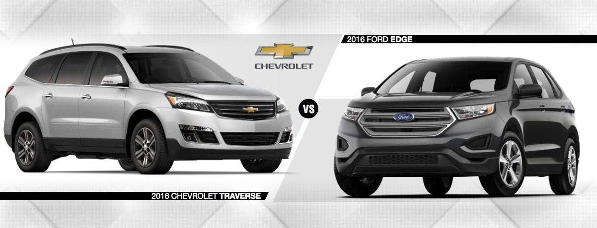 Compare New 2016 Ford Edge Vs Chevy Traverse Crystal Lake Il