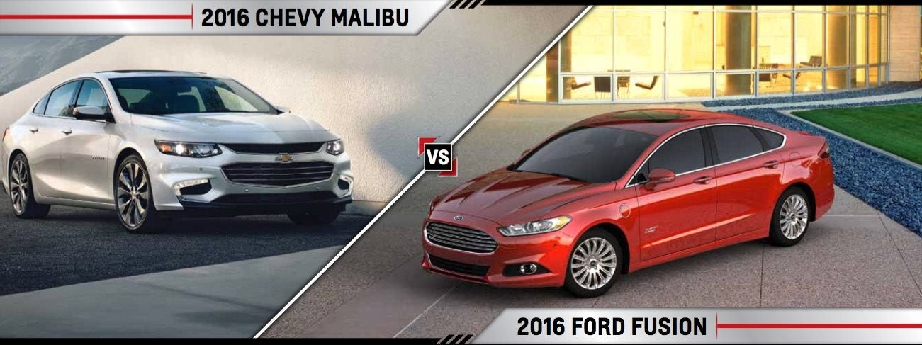 Compare New 2016 Ford Fusion Vs Chevy Malibu Crystal Lake Il